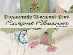 This homemade recipe gets my carpets clean every time!  My 2 year old walked through the living room the other day with a BLUE popscicle that dripped everywhere and it all came up without a problem.  And the best part - there are no harsh chemicals!!