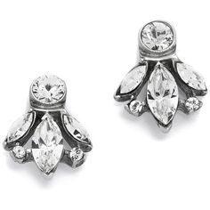 Ben-Amun Crystal Trio Stud Earrings ($65) ❤ liked on Polyvore featuring jewelry, earrings, clear, sparkle jewelry, stud earrings, sparkly earrings, earrings jewelry and ben amun earrings