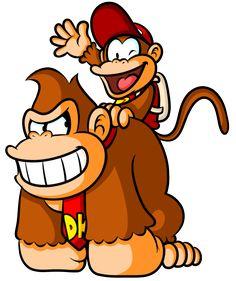 Donkey Kong and Diddy Kong by Captain-Regenold.deviantart.com on @deviantART