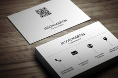 Dual Corporate Business Card Templates Business card - perfect for any business/personal. x with by bouncy