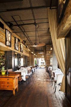 restaurant idea warm interior Design Wood Natural inspiring. Great windy open air. Mmmmm