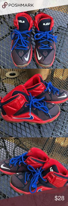 finest selection e3327 453ab Lebron James 12 GS(kids)⭐ ❤ Kids Lebron James basketball shoes by Nike.  Some scuffs in the ankle but still in good condition. Size US Color  Red  and ...