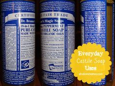 How to Use Castile Soap. Castile soap is an environmentally friendly, biodegradable soap with none of the harmful chemicals present in most regular soaps. In addition, castile soap contains no animal products. Although castile soap is. Castile Soap Uses, Castille Soap Shampoo, Foaming Soap, Glycerin Soap, Get Rid Of Ants, Rid Ants, Diy Shampoo, Homemade Shampoo, Homemade Soaps