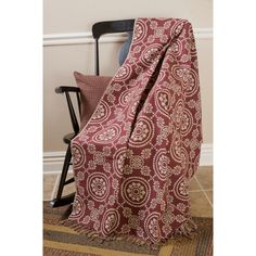 Woven Burgundy Throw Blanket - Your Western Decor