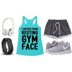 Do You Suffer From Resting Gym Face? Wear this outfit and let everyone know what's going on.
