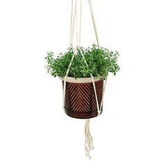 Natures Garden Hanging Pot Large Chevron Brown * For more information, visit image link.
