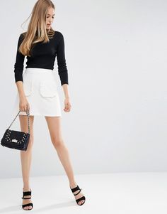 ASOS+A-Line+Mini+Skirt+with+Ruffle+Pocket