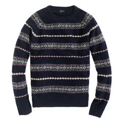 j crew, why don't you make this sweater for girls? . . . . Lambswool Glencoe Fair Isle sweater