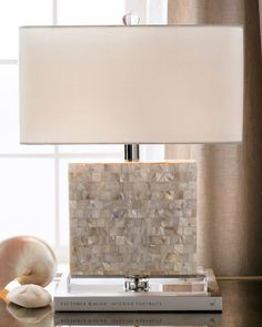 Shop Rectangular Mother-of-Pearl Lamp from Regina Andrew Design at Horchow, where you'll find new lower shipping on hundreds of home furnishings and gifts. Traditional Lamp Shades, Living Tv, Living Room, Light In, Interior Decorating, Interior Design, Home Lighting, Interior Lighting, Lighting Sale