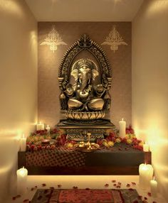 interior pooja room IN LOVE