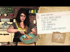 Save the Kales! Vegan TV cooking show ----Stir-fry Shepherds Pie with Wasabi Mashed Potatoes, AND a Rice and Stone Fruit breakfast bowl with fresh Ginger, Cinnamon and Pistachios.