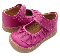 Ruche Magenta Shimmer Shoe by Livie and Luca