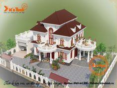 Village House Design, Bungalow House Design, House Front Design, House Plans Mansion, Luxury House Plans, Modern House Plans, Classic House Design, Dream Home Design, Home Design Plans