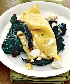 Ricotta Omelet With Swiss Chard | RealSimple.com