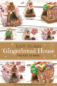 Our mini gingerbread houses are super EASY for kids to make! No baking, rolling and NO TEARS with our no bake Gingerbread House Activities For Kids! Cardboard Gingerbread House, Christmas Gingerbread, Holiday Fun, Christmas Crafts, Gingerbread Houses, Christmas 2019, Holiday Ideas, Christmas Decorations, Gingerbread Man Activities