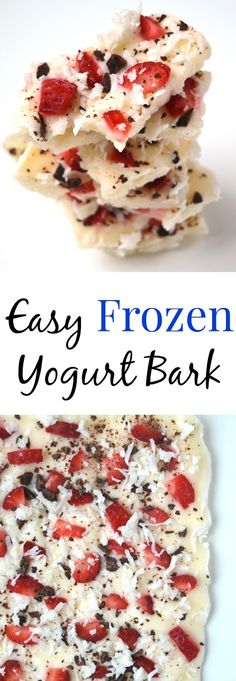 Frozen Yogurt Bark- easy, healthy, high in protein and makes a fun snack or dessert! www.nutritionistreviews.com