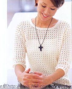 Manga blanca la ropa del gancho - ellem6 - tejer Tejidos Incansables