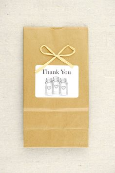 Kraft Favor Bags Mason Jars (Set of 10)