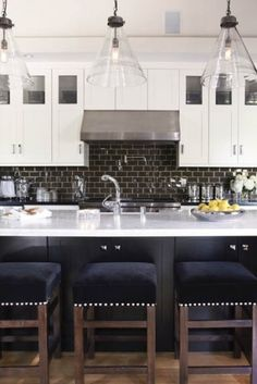 SO MISS our FL White kitchen with black countertops - Especially the kitchen w/bar counter open to great room <3