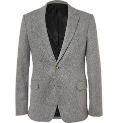 AMIGrey Wool-Flannel Suit Jacket