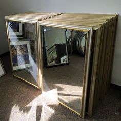 """Regularly $65 these will be on sale for $40 on 3/14/16! Beveled glass silver/gold wood backed frame. 32"""" x 44"""". - http://ift.tt/1HQJd81"""