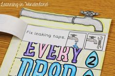Learning in Wonderland Water Conservation Foldable