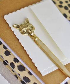 Brass Fox Letter Opener  http://www.highstreetmarket.com/collections/home-decor/products/brass-fox-letter-opener