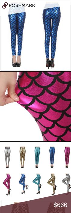 Coming soon!  Mermaids legging Blue mermaid legging one size fit S and M Pants Leggings