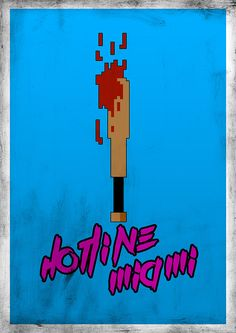 beardburrito:  Hotline Miami Quick little experiment with pixel art, ended up making something yet again in the book cover/poster-esque kind...