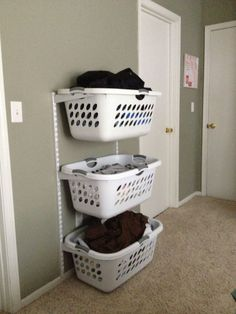Very clever laundry organization idea!