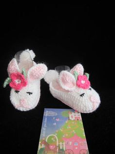 Crochet Baby booties Snuggle bunny slippers Crochet by MILAVIKIDS, $19.99
