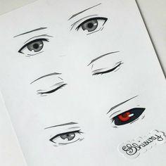 Dark Art Drawings, Anime Drawings Sketches, Tokyo Ghoul Drawing, Kaneki Ken Drawing, Anime Boy Sketch, Samurai Artwork, Anime Eyes, Animes Wallpapers, Kawaii Anime