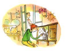Uit Dossier Pleegkinderen Illustraties Els van Egeraat