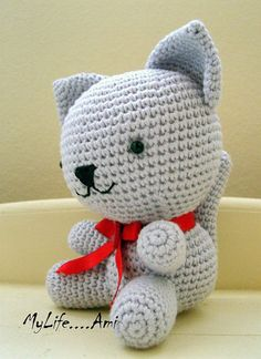 MyLife....Ami Amigurumi Cat by mylifeami on Etsy,