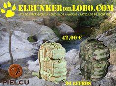 De nuevo disponibles en Elbunkerdellobo.com las Mochilas de Asalto Pielcu U.S. 30 L Assault Backpack en color arido y boscoso pixelado. Si es posible se ruega el pago con tarjeta de crédito o por transferencia bancaria.
