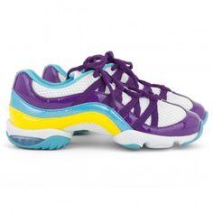 Bloch girls purple Criss Cross split sole trainers | AlexandAlexa