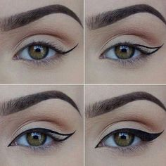 How to Apply Eyeliner. Eyeliner can help make your eyes stand out or look bigger, and it can even change their shape. Even if you've never worn eyeliner before, all it takes is a little practice to take your makeup to the next level! Eyeliner Make-up, Eyeliner Hacks, How To Apply Eyeliner, Eyeliner Ideas, Perfect Eyeliner, Black Eyeliner, Applying Eyeliner, Permanent Eyeliner, Drugstore Eyeliner