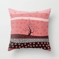Marsala Landscape pillow cover. by ViviGonzalezArt #pillows #homedecor