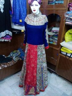 #Gownforreceptionparty #Receptiongownforindianbride #Indianweddingreceptiondressesforthebride #Receptionweardresses # Maharani Designer Boutique  To buy it click on this link :  http://maharanidesigner.com/Anarkali-Dresses-Online/bridal-gowns/ Rs.29000 Fabric-net & velvet Hand work. For any more information contact on WhatsApp or call 8699101094 Website www.maharanidesigner.com Maharani Designer Boutique's photo.