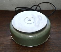 Vintage table stove hot plate pot warmer hammered by MaAndPasAttic