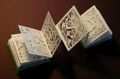 concertina book cut