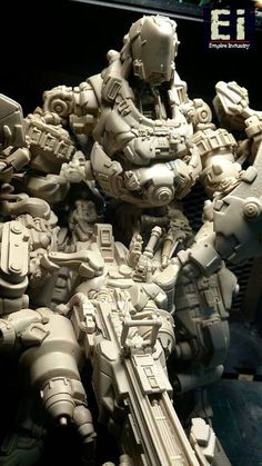Ei by unknown Zbrush, Cyberpunk, Futuristic Robot, Sci Fi Models, Sci Fi Armor, Lego Mecha, Suit Of Armor, Ex Machina, Robot Design