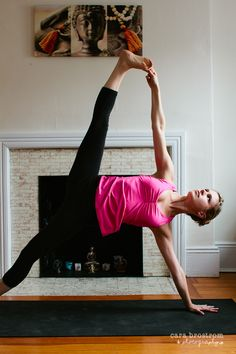#yoga Vasisthasana-- working on it!  I have the strength to at least get my feet stacked.