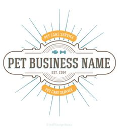 READY MADE PET BUSINESS LOGO - Whimsical and cute premade pet business logo that is both cat and dog friendly. Perfect for any startup pet business • #PremadePetBusinessLogo • #ReadyMadePetBusinessLogo • Fetch it and go!