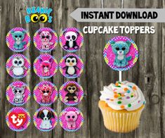 Hey, I found this really awesome Etsy listing at https://www.etsy.com/listing/507345008/beanie-boo-cupcake-toppers-diy-12-beanie