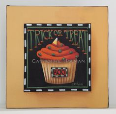 Halloween Cupcake Original Painting Trick or by catherineholman, $49.95