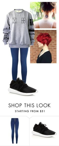 """Untitled #412"" by winniemjones ❤ liked on Polyvore featuring New Look and adidas"