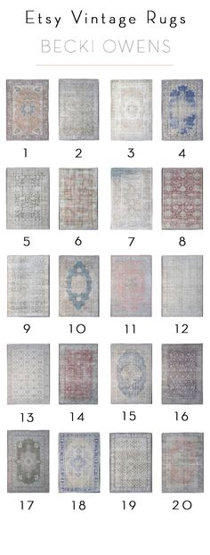 BECKI OWENS- Etsy Favorite Shop: GLORYrugs. Find details about this source for beautiful vintage rugs today on the blog.