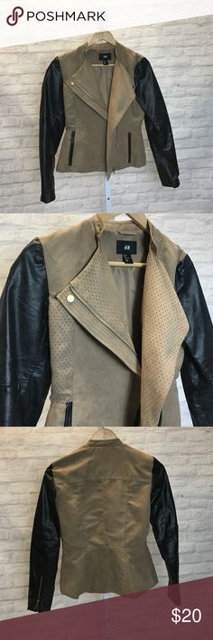 H&M Moto Jacket Only worn once H&M Jackets & Coats