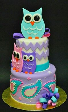 Owls with Paisley and Chevron